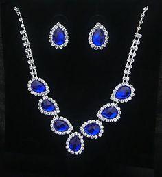 Crystal Water Drop Necklace Set - 786shop4you