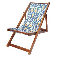 Ikat Canvas Recliner Blue, $135, now featured on Fab.