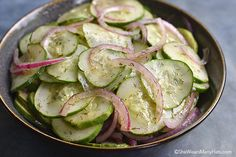 Onion Cucumber Salad Recipe | http://shewearsmanyhats.com/onion-cucumber-salad-recipe/
