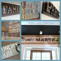 a collection of DIY signs from Craft Gossip
