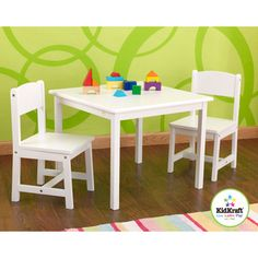 @Overstock.com - KidKraft White Aspen Table/Chair Set - This table and chair set is the perfect place for your child to color, play board games, work on school projects or even enjoy a quick snack.  http://www.overstock.com/Sports-Toys/KidKraft-White-Aspen-Table-Chair-Set/8264958/product.html?CID=214117 $101.99
