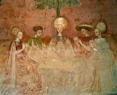 fresco from the Borromeo Palace in Milan---  diggin' the headgear