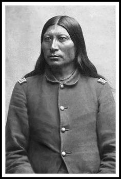Arapaho Chief, Sharp Nose, 2nd Chief of Arapahos. Photo: 1877.