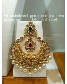 Ram leela chandbali with dropped pearls