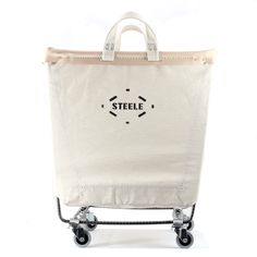 Steele canvas laundry cart.
