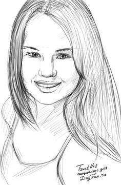 Как нарисовать портрет девушки карандашом 4