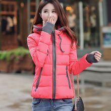 Invierno chaqueta con capucha de algodón, slim mujer corta - chaqueta acolchada parka mujer ropa de abrigo chaqueta wadded mujeres abrigo de invierno(China (Mainland))