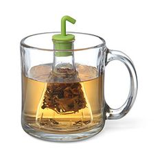 Drinking tea has never been so scientific. Impress your friends and get just the right flavor with this glass Beaker Tea Infuser.