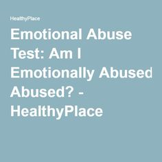 emotionally abusive relationship test