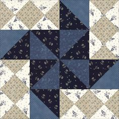 April 6 Flying Fist.This block is from the pattern library in EQ7. Unfortunately, I couldn't find any further information about it; even a Google search showed up nothing. But I like it's rotating movement that is perfect for our quilt corner.