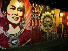 shepard fairey. This is in Miami - Wynwood Walls. AMAZING in person!!