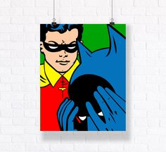 Batman and Robin 1960s High Quality Vector Illustration.