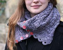 Ravelry: Gothic Lace Cowl pattern by tincanknits free pattern