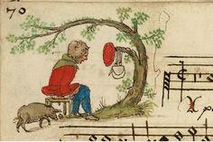 """Chansonnier de Zeghere van Male"" Medieval Drawings, Medieval Art, Medieval Manuscript, Illuminated Manuscript, Typography Alphabet, Funny Art, Book Illustration, Middle Ages, Art Techniques"