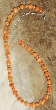 Orange Spiney Oyster Necklace