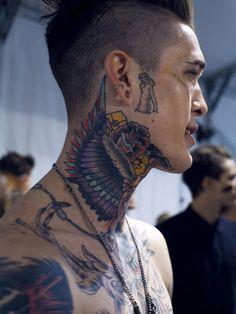 140 Eye Catching Neck Tattoos For Men & Women cool  Check more at http://fabulousdesign.net/back-neck-tattoos-men-women/