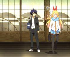 Nisekoi: The bean sprout and the Gorrila - Chitoge Kirisaki Nisekoi, Best Anime Couples, Turning Japanese, Manga Games, Anime Ships, D Gray Man, Manga Anime, Otaku, Kawaii