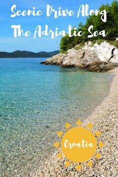 Scenic Drive Along The Adriatic Sea, Croatia