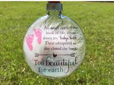 Baby memorial ornament Miscarriage by PaintedTreasuresbyme