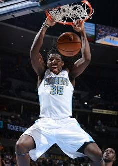 Manimal (nick name) representing the Nuggets in the slam dunk contest at The All Star Weekend on February 16th