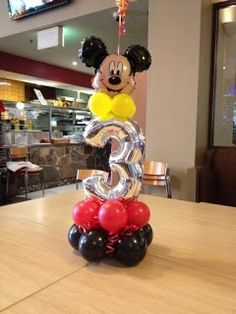 61 Ideas Birthday Balloons Bouquet Mickey Mouse For 2019 Mickey Mouse Birthday Decorations, Theme Mickey, Minnie Mouse Theme Party, Fiesta Mickey Mouse, Mickey Mouse Parties, Mickey Party, Minnie Maus Ballons, Mickey Mouse Balloons, Mickey 1st Birthdays