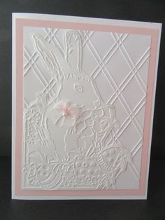 Easter Bunny Greeting Card by PatsPaperCrafts on Etsy