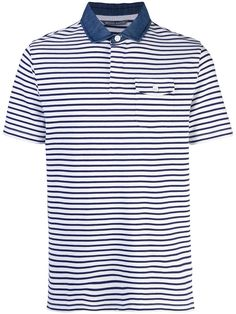 Michael Bastian Striped Polo Shirt In White Denim Polo, Blue Denim, Michael Bastian, Striped Polo Shirt, Size Clothing, Shop Now, Women Wear, Polo Shirts, Mens Tops