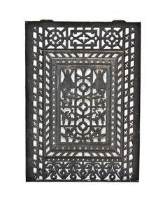 c. 1860's original antique american victorian era aesthetic movement new york city rowhouse black enameled ornamental cast iron interior fireplace summer cover