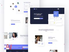 Team and Project Management Tool - Landing Page by Kuba Zelichowski for RonDesignLab on Dribbble Landing Page Examples, App Landing Page, Landing Page Design, Web Design, Landing Page Builder, Visual Hierarchy, Branding, Dashboard Design, Website Design Inspiration
