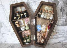 "An Odd Apothecary Miniature Coffin Shadow Box 6"""