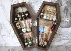 An Odd Apothecary Miniature Coffin Shadow Box 6 by AhtheMacabre, $60.00