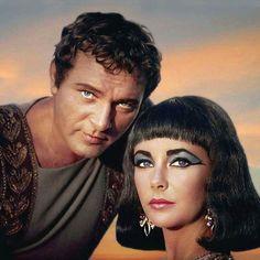 "Elizabeth Taylor & Richard Burton in a publicity shot for ""Cleopatra"" Hollywood Stars, Old Hollywood Glam, Hooray For Hollywood, Hollywood Icons, Golden Age Of Hollywood, Classic Hollywood, Hollywood Actresses, Richard Burton Elizabeth Taylor, Burton And Taylor"