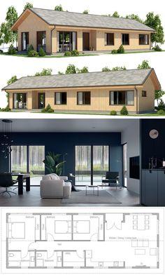 Architecture Home Plans, Casa Pequena, Planta de Casa, Casa House Layout Plans, New House Plans, Dream House Plans, Modern House Plans, Small House Plans, House Floor Plans, Layouts Casa, House Layouts, Modular Home Plans