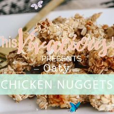Healthy Baked Chicken Nuggets These rosemary oatmeal healthy baked chicken nuggets are a delicious alternative to classic deep fried nuggets. They are so easy to make and high in fiber. Our hot mustard is the perfect accompaniment. Plus, the kids will LOVE them! #chickennuggets #bakedchickennuggets #glutenfreechicken #glutenfreechickennuggets #oatmealchicken #thisvivaciouslife<br> Baked Chicken Nuggets, Healthy Baked Chicken, Gluten Free Chicken, Baked Chicken Recipes, Baking Videos, Food Videos, Filling Food, Healthy Baking, Gluten Free Recipes