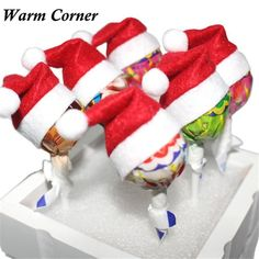 Warm Corner Hot Sales 6 PCS Christmas Hats Christmas Hats Little Lollipop Creative Gifts Wedding Essential Free Shipping Sept 16 #clothing,#shoes,#jewelry,#women,#men,#hats,#watches,#belts,#fashion,#style