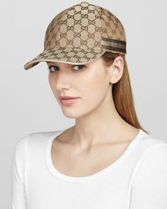 GG Baseball Cap by Gucci at Neiman Marcus. Gucci Hat fae5f7e00b5