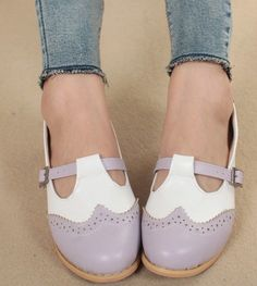 Women's Fashion Retro Faux Leather Oxford Flats Low Heel Shoes 3 Colors Hot Sale | eBay. SIZE 7.5