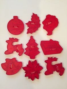 Vintage Red Clear Plastic Christmas Cookie by SuburbanVintage