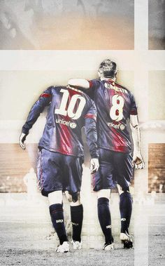 Leo Messi & Andres Iniesta