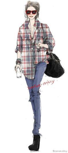 Fashion Sketch: Grunge