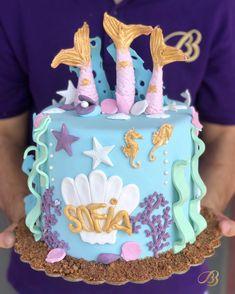 Idei de tort pentru copii din pasta de zahar elemente apa căluț de mare, scoici, stea de mare BB cakes timisoara Dumbravita Stea, Mermaid Cakes, Birthday Cake, Desserts, Kids, Food, Tailgate Desserts, Young Children, Deserts
