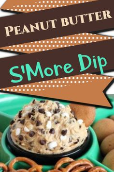 """Here's a Great Peanut Butter S'More Dip to try at your next """"Game Night"""". It's super easy and so tasty! Use something salty such as Pretzels  to get that whole sweet and salty effect - or use cookies to simply enjoy the sweetness of the dip !"""