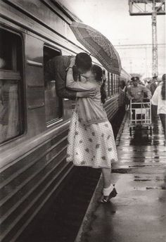 The long farewell - Taken by Pavel Kassine in Moscow, Russia circa 1986.