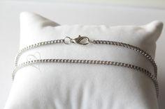 Kette aus Edelstahl, große Größe, Wunschlänge - erhältlich bei Curvy Jewel auf Dawanda.com