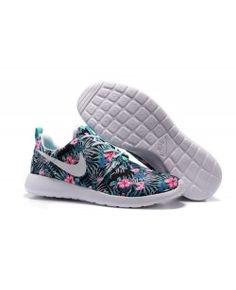 Nike Roshe One Print PREM Washed Teal Floral Running Shoes NSW