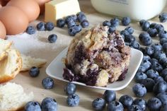 Schulzies - Blueberry Muffin Bread Pudding