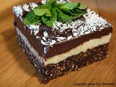 Chocolate Coconut Mint Brownies (Raw Vegan)