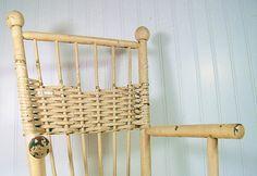 Vintage Wicker & Wood Chair  Primitive HandMade by DivineOrders, $42.00