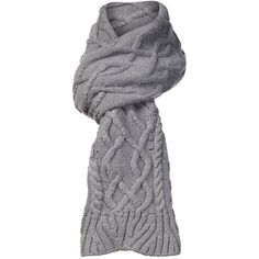 UGG Isla Lurex Cabel Scarf ($65) ❤ liked on Polyvore featuring accessories, scarves, clearance, grey, grey scarves, gray shawl, gray scarves, ugg australia and grey shawl