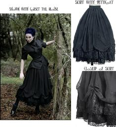 Beautiful Victorian Gothic skirt.